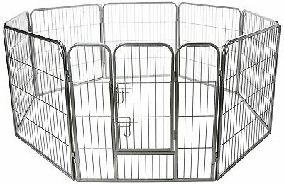 Heavy Duty Wire Dog Playpen Exercise Fence Outdoor Pet Play Pen Kitten Cat Puppy