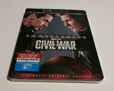 Marvel Captain America Civil War 4K Ultra HD Blu Ray Movie Slipcover New