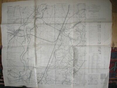 British Army Map Weener Germany 1944 1;25,000 Military History Europe Campaign
