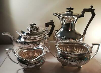 An Elegant Four Piece Antique Silver Tea / Coffee Service: Sheffield 1907