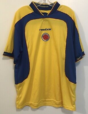 5dc9111ac78 2001 Reebok Colombia National Team Home Soccer Jersey COPA AMERICA Size  Large L
