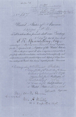 Daniel Webster - Document Signed 05/22/1852 Co-Signed By: William A. Weeks