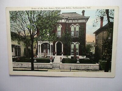 VINTAGE INDIANA CHROME Postcard James Whitcomb Riley Home
