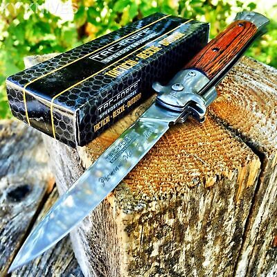 """9"""" TAC FORCE Italian Milano Stiletto Tactical Spring Assisted Open Pocket Knife"""