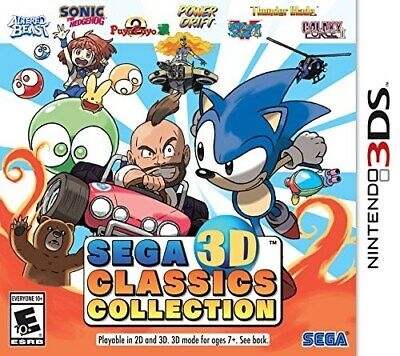 Nintendo 3Ds Game Sega 3D Classics Collection Brand New And Sealed