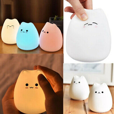Nursery Lamp Light LED Night Light Cute Cartoon Cat Baby Kids Room Lamp 2019