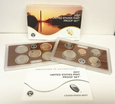2017 United States Mint Proof Set with Box & Certificate of Authenticity