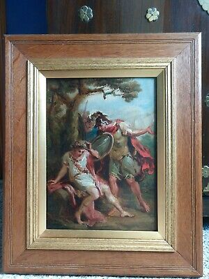 Untitled Antique Oil on Board painting