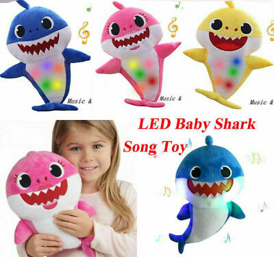 2019 Baby Shark Plush Singing Plush Toys Music Doll English Song Toy Gift