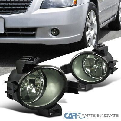 For 05-06 Nissan Altima Smoke Lens Fog Lights Tinted Driving Bumper Lamps+Switch