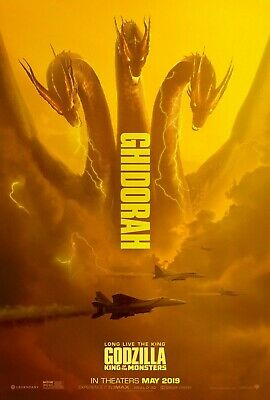 "Godzilla King of the Monsters Movie Poster  Ghidora  27"" ×40"""