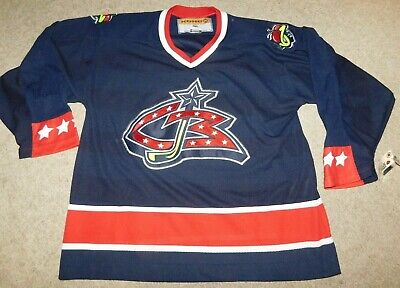 Columbus Blue Jackets Blank Hockey Jersey Sewn Men Stitched Jersey Ice Hockey Equipment Sporting Goods