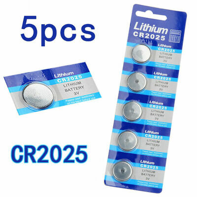 5pcs CR2025 3V Alkaline Button Battery Cell Coin Watch Calculator Batteries New