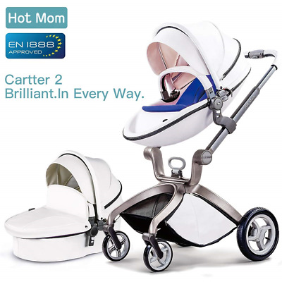 Hot Mom Pushchair 2018, 3 in 1 Baby Stroller Travel System with Bassinet