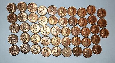 U. S, 1955 S Gem Unc.red Wheat Pennys