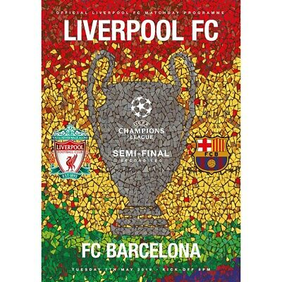 Liverpool v Barcelona Champions Semi-League Final Madrid 2019 Official Programme