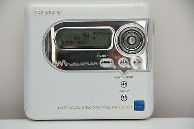 Sony MZ NH 600 NET HI MD  Minidisc Walkman Player Recorder In White Very Rare