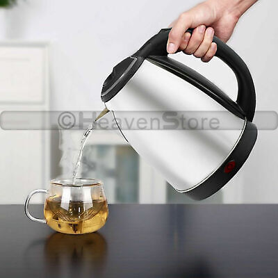Premium Stainless Steel1.5L Electric Kettle Indicator Light 360° Cordless Silver