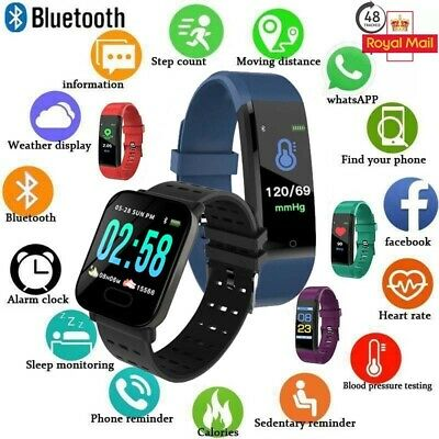 Fitness Smart Watch Activity Tracker MenWomen Kids Fitbit Android iOS Heart Rate