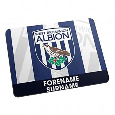 West Bromwich Albion F.C - Personalised Mouse Mat (BOLD CREST)