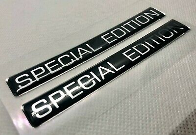 2pcs. Special Edition Logo 3D Domed Badge Stickers. 106x14mm.