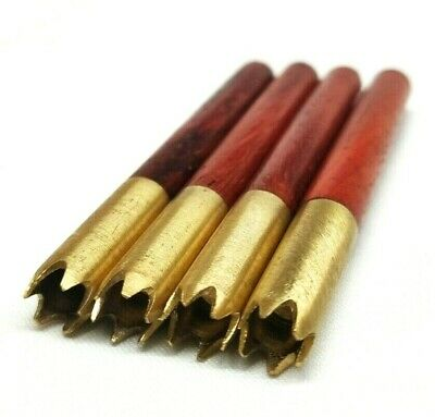 "4 pk Brass Wood 3"" One Hitter Bats Grinder Tips"