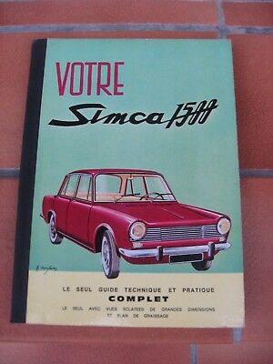Livre SIMCA 1500 Guide technique et pratique complet collection EPA