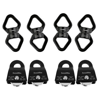 3x Safety 360° Rotational Climbing Device Rotator Rope Swivel Connector 30KN