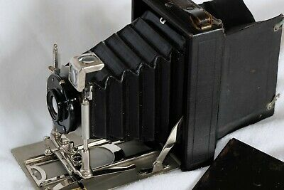 """Un-Named 1/4 Plate (3""""X4"""") Folding Plate/Sheet Film Camera With Focus Screen"""