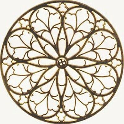 "St. Patricks Cathedral Rose Window Ornament Gold Colored - 2.75"" NEW"