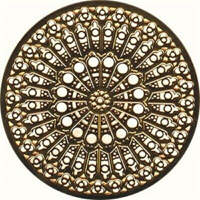 "Notre Dame Cathedral Rose Window Ornament Gold Colored - 2.75"" NEW"