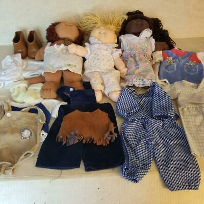 3 Dolls 2 Cabbage Patch Kids Koosas Lion Caucasian 1 Unbranded AA + Clothing