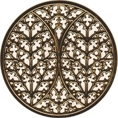 "Lincoln Cathedral Rose Window Ornament Gold Colored - 2.75"" NEW"