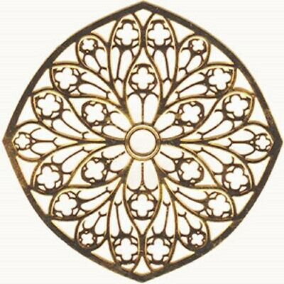 "Tours Cathedral Rose Window Ornament Gold Colored - 2.75"" NEW"