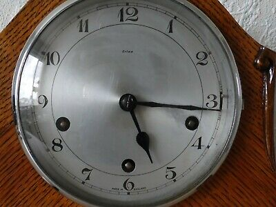 Antique Deco Wooden Clock By ENFIELD