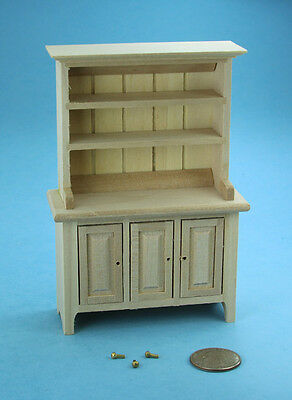 NICE Dollhouse Miniature Natural Wood Hutch with Hardware PAINTABLE #WCK76