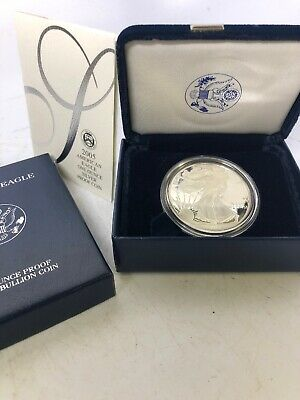 2005 Silver American Eagle One Dollar Proof Bullion Coin W/ COA West Point
