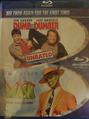 Like New - Dumb and Dumber / The Mask (Blu-Ray) Free Shipping - Jim Carrey