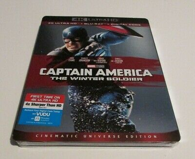 Marvel Captain America Winter Soldier 4K Ultra HD Blu Ray Movie Slipcover New