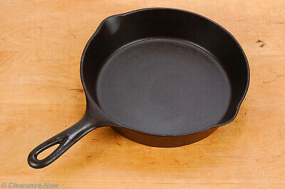 "Vintage Wagner Ware 7A 10"" Cast Iron Skillet Heat Ring Double Spout Pan 8204"