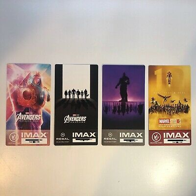 Marvel's Avengers Infinity War Endgame IMAX Ticket 4 Set - Thanos Iron Man Thor