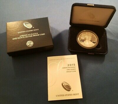 2015-W Proof American Silver Eagle United State Coin with Box and COA