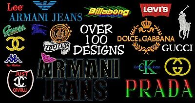 Machine Embroidery Designs - Fashion Brands Embroidery Designs - Multi Formats