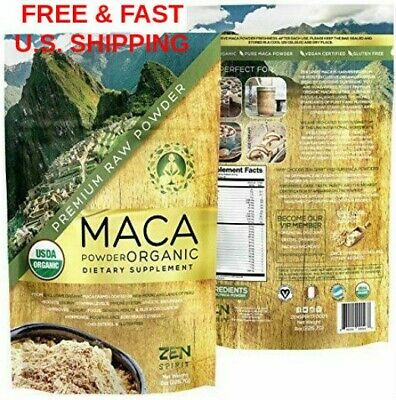 ORGANIC Peruvian Premium Grade Pure Maca Root Powder Superfood Raw USDA VEGAN