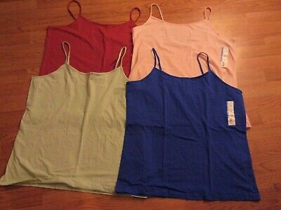 NEW Lot of (4) Spaghetti Strap Scoop Neck Cami Tops XXXL.3X..2X Plus Womens