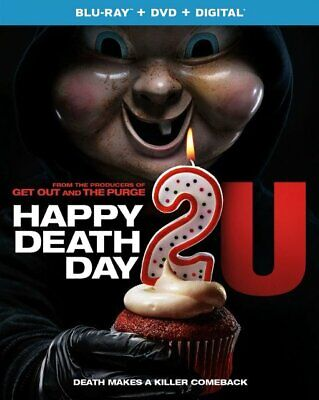 Happy Death Day 2 U (U.S. Blu-Ray + DVD + Digital, 2019, with SLIPCOVER) NEW