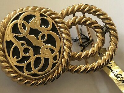 Vintage Mimi di N Solid Brass Rope Belt Buckle