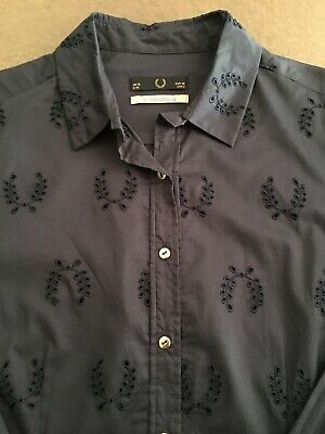 f9f0d062d Fred Perry X Richard Nicoll UK Navy Blue Shirt - Limited Edition Size Medium