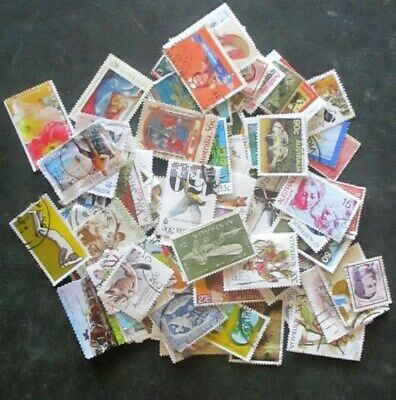 100 Australian selection used stamps