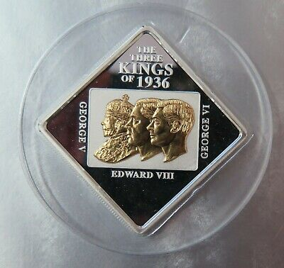 2011 Niue Island Three Kings Gold Plated Silver Proof Coin ,Mintage of only 2500